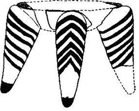 Рис. 32. Миниатюрный алтарь или трон. По Уэйсу и Томнсону (1/3).