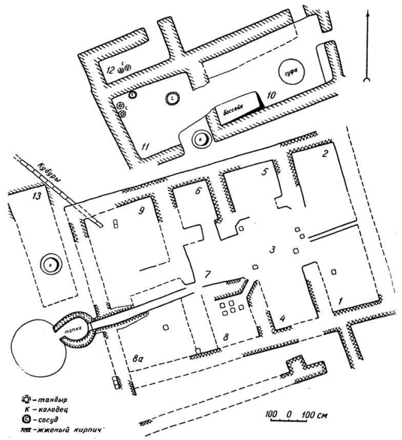 Рис. 6.28. Баня. XI—XII вв. Отрар