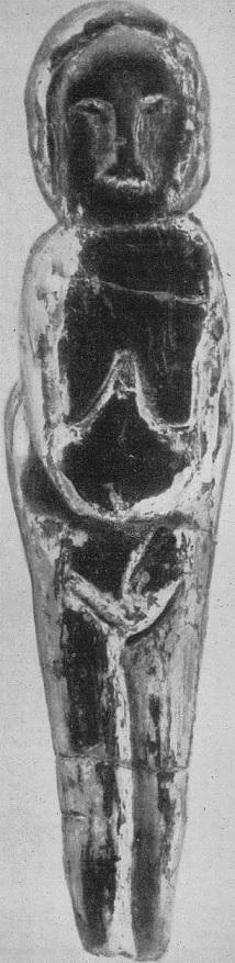 9. Женская статуэтка из стоянки Мальта. Бивень мамонта. Поздний палеолит.