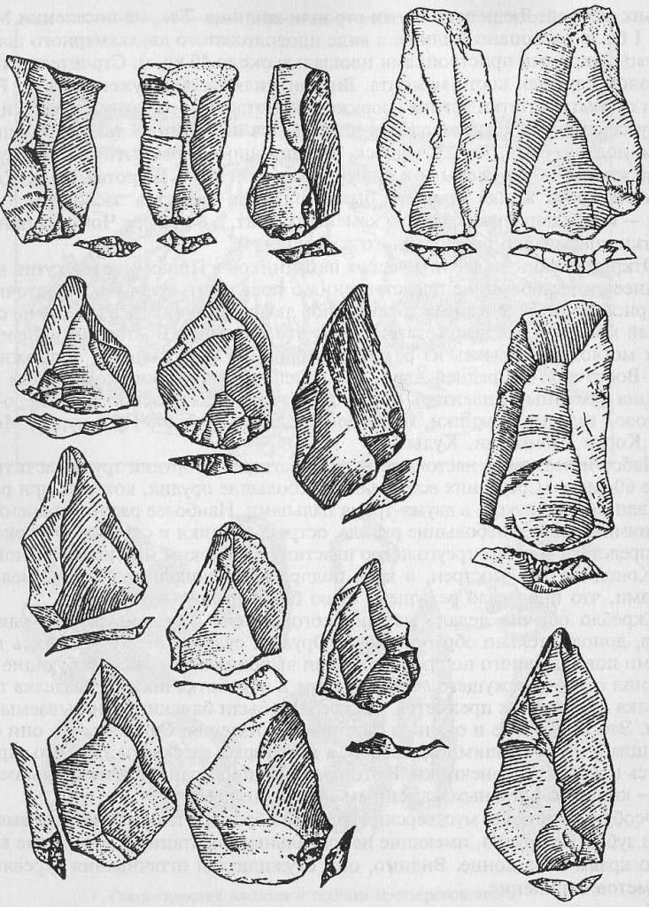 леваллуазские наконечники