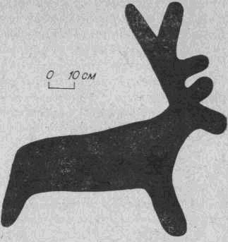 Рис. 8. Бырка. Плоскость № 1. Третья группа рисунков, изображение оленя.