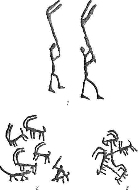 Рис. 25. Западный Памиро-Алай: 1 — Охна, Кас-Таш; 2 — Шахимардан [Шацкий, 1973]; 3 — Чадак-сай [Шацкий, 1973]