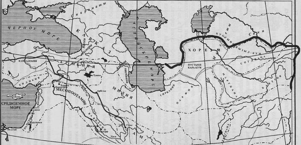 Средняя Азия и Закавказье в конце I тысячелетия до н. э.— первые века н. э. (по Г.А. Кошеленко)