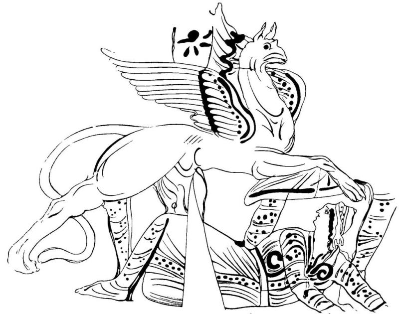 Рис 37. Пелика Одесского музея (инв. ш/3808). Обратная сторона. Деталь