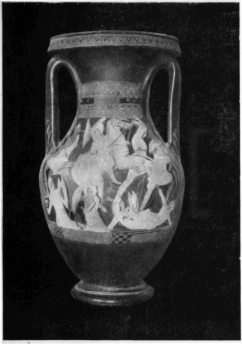 Рис. 34. Краснофигурная пелика Ялтинского музея (инв. № 2572). Лицевая сторона (А)