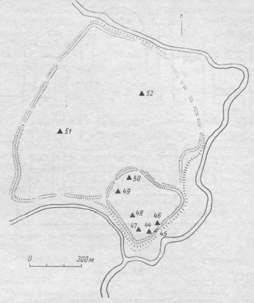 Рис. 8. Переяславль. Схема расположения памятников.