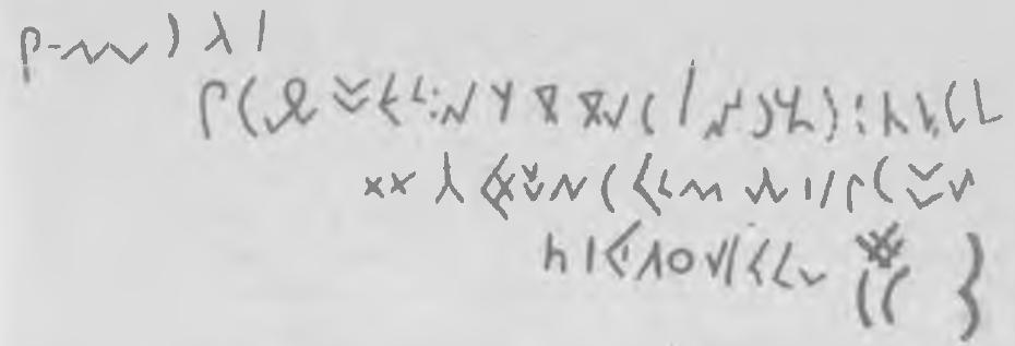 Рис. 2. Руническая надпись на восточной стене Тохзасской пещеры.