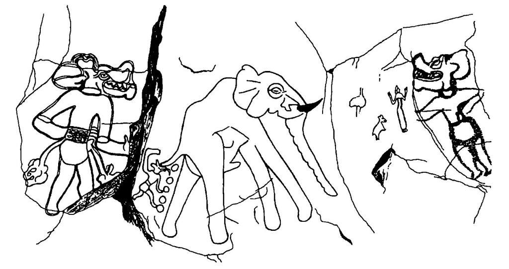 Рис. 62. Петроглифы Феццана, Ливия