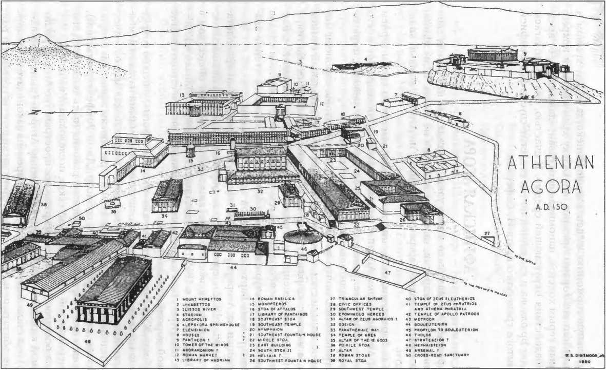 План-реконструкция афинской Агоры