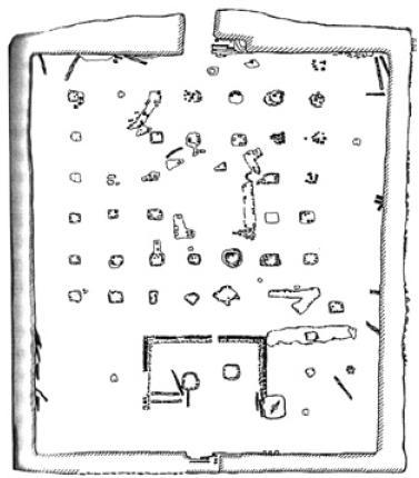 Рис. 6.33. План мечети. XIII в. Каялык