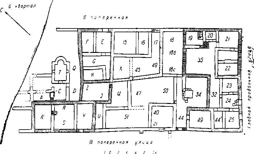 Рис. 4. План II жилого квартала северо-восточной части Херсонеса.
