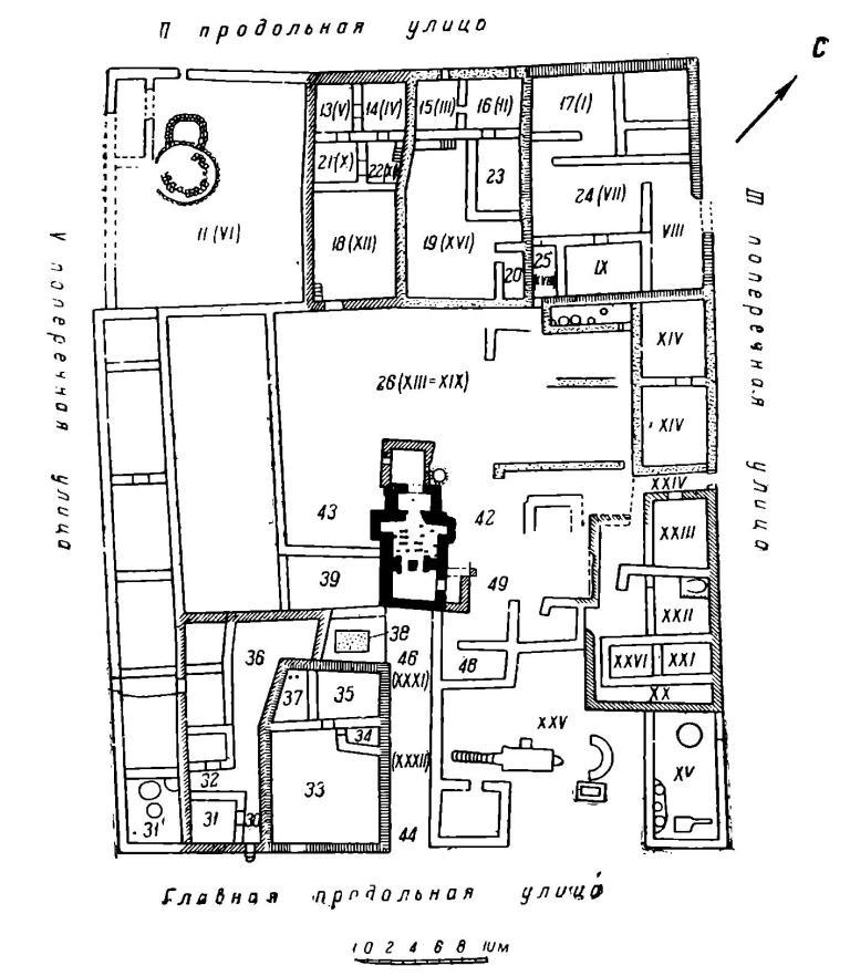 Рис. 5. Плаы III жилого квартала северо-восточной части Херсонеса.