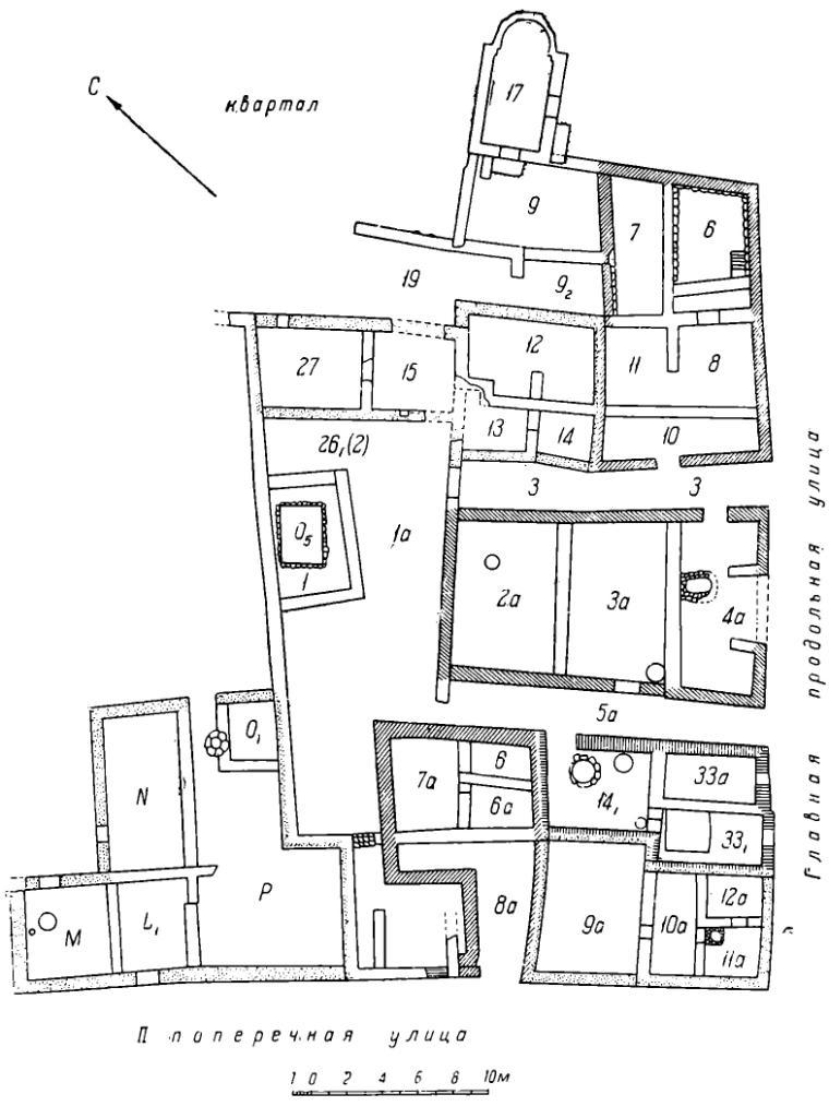 Рис. 3. План I жилого квартала северо-восточной части Херсонеса.