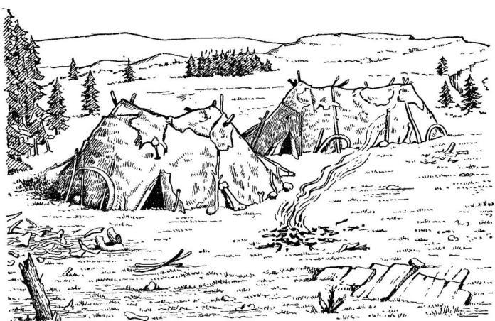 Позднепалеолитическое жилище в Острава-Петровиче, Силезия. Реконструкция