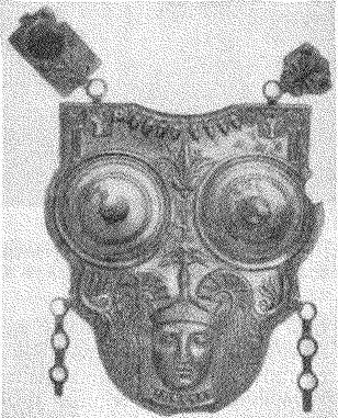 Рис. 10. Бронзовый панцирь, найденный на дне моря около Мехедии