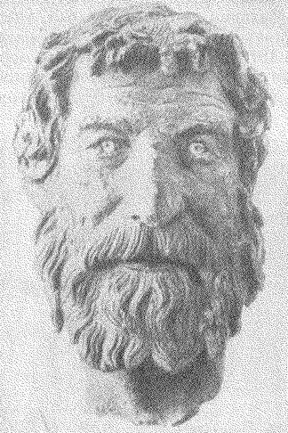 Рис. 9. Бронзовая голова, найденная в море около Антикиферы