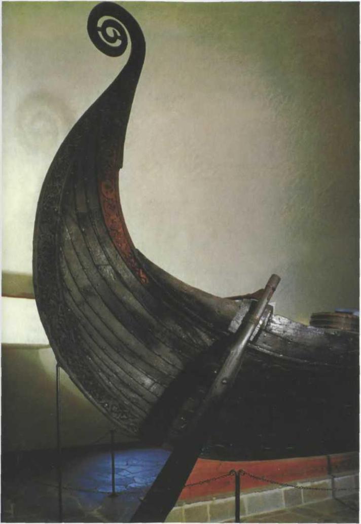 Погребальный корабль из кургана IX в., Усеборг, Норвегия
