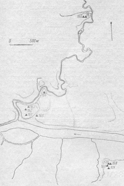 Рис. 24. Полоцк. Схема расположения памятников.