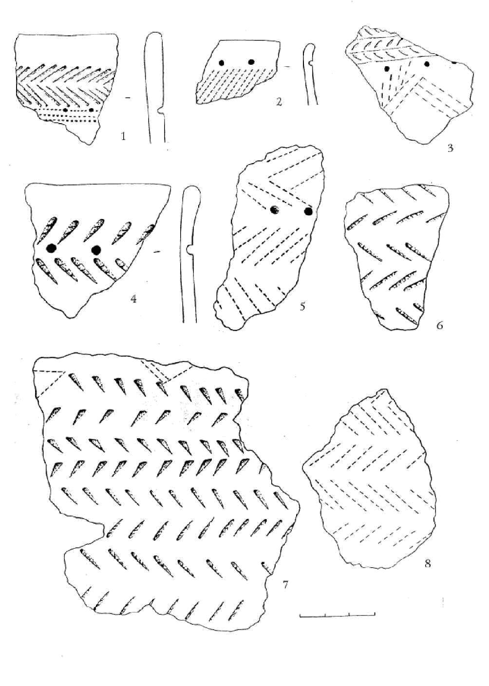 Рис. 6. Поселение Фирсово XVII. Керамика