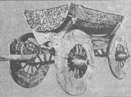 Рис. 72. Повозка из погребения в Усеберге