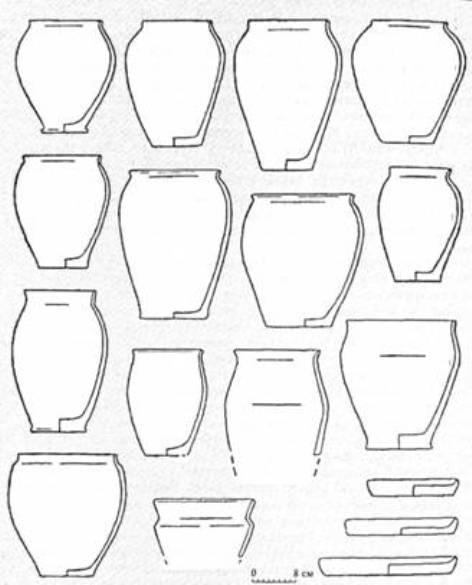 Рис. 20. Кераміка празької культури