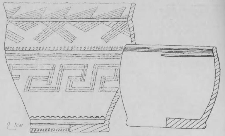 Рис. 6. Преображенка-3. Андроновская керамика могильника.
