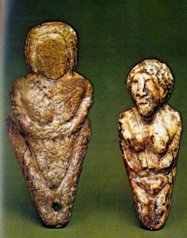 Палеолитические женские статуэтки, стоянка Мальта, Россия