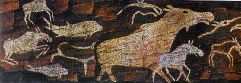 Неолитические изображения, р. Ангара