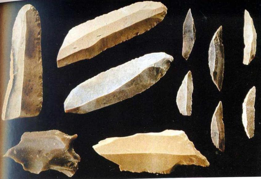 Верхнепалеолитические ножевидные пластины и мезолитические микролиты