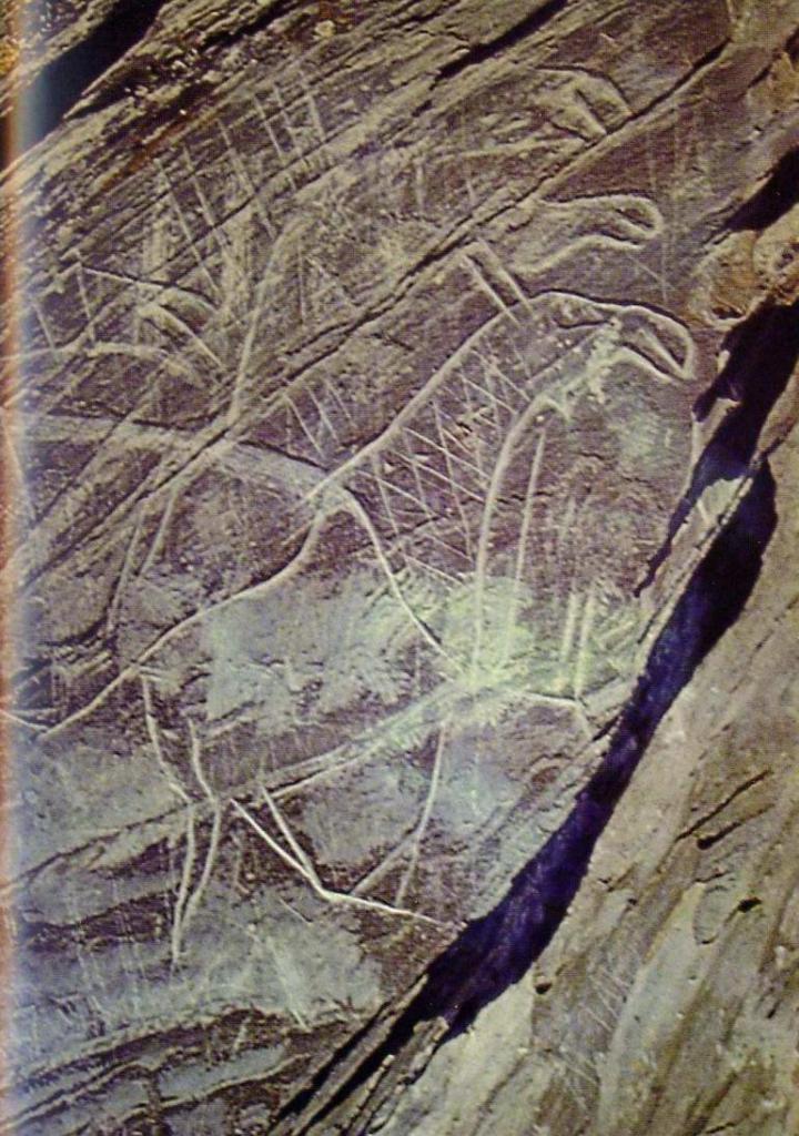 Наскальные изображения святилища Томская Писаница, Сибирь