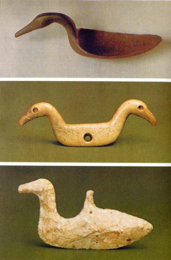 Ковш и подвески, неолитическая культура