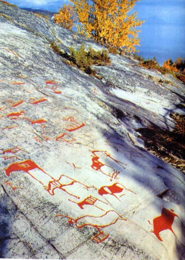 Наскальные изображения неолита, Норвегия, конец V - начало IV тыс. до н. э. (по А. Свеен)