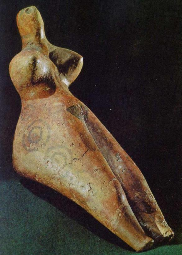 Энеолитическая керамическая статуэтка, культура анау, Туркмения