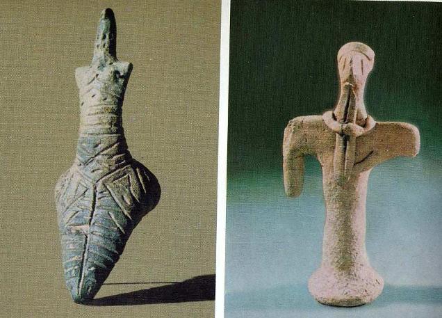 Энеолитические керамические статуэтки, культура анау, Туркмения