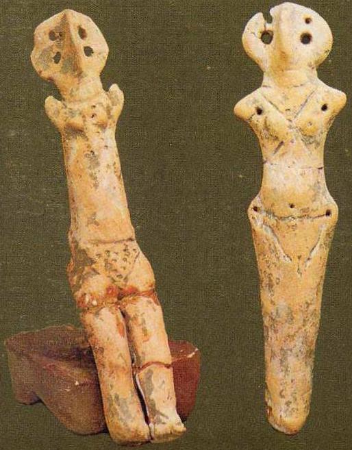 Глиняные трипольские антропоморфные статуэтки