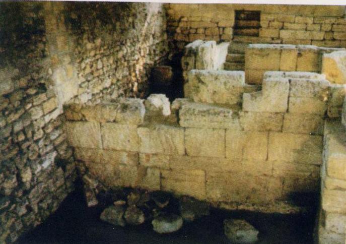 Сохранившаяся часть монетного двора в Херсонесе, III в. до н. э.