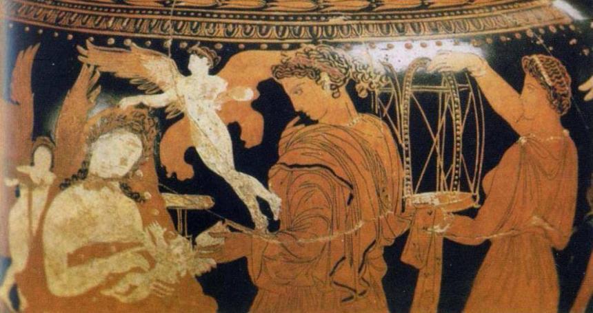Фрагмент росписи античной вазы