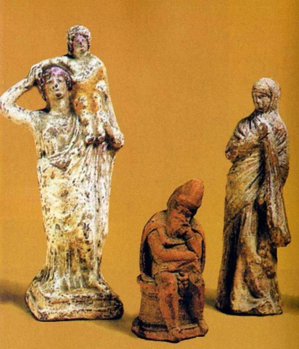 Терракотовые статуэтки, Пантикапей, IV-III вв. до н.э