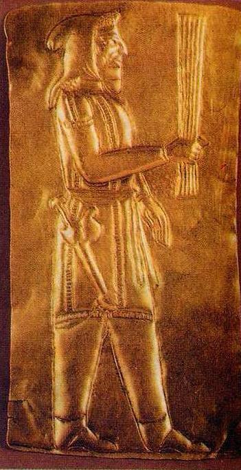 Золотая пластина с изображением сака, Амударьинский клад