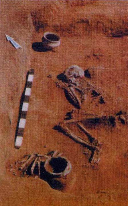Скорченное погребение эпохи бронзы