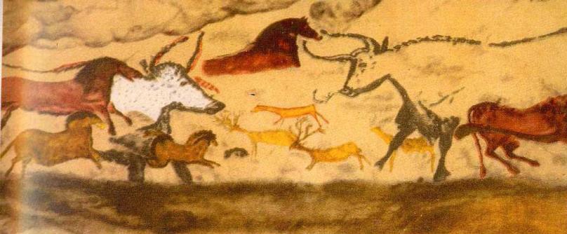 Лошади, быки и олени из пещеры Ляско, Франция