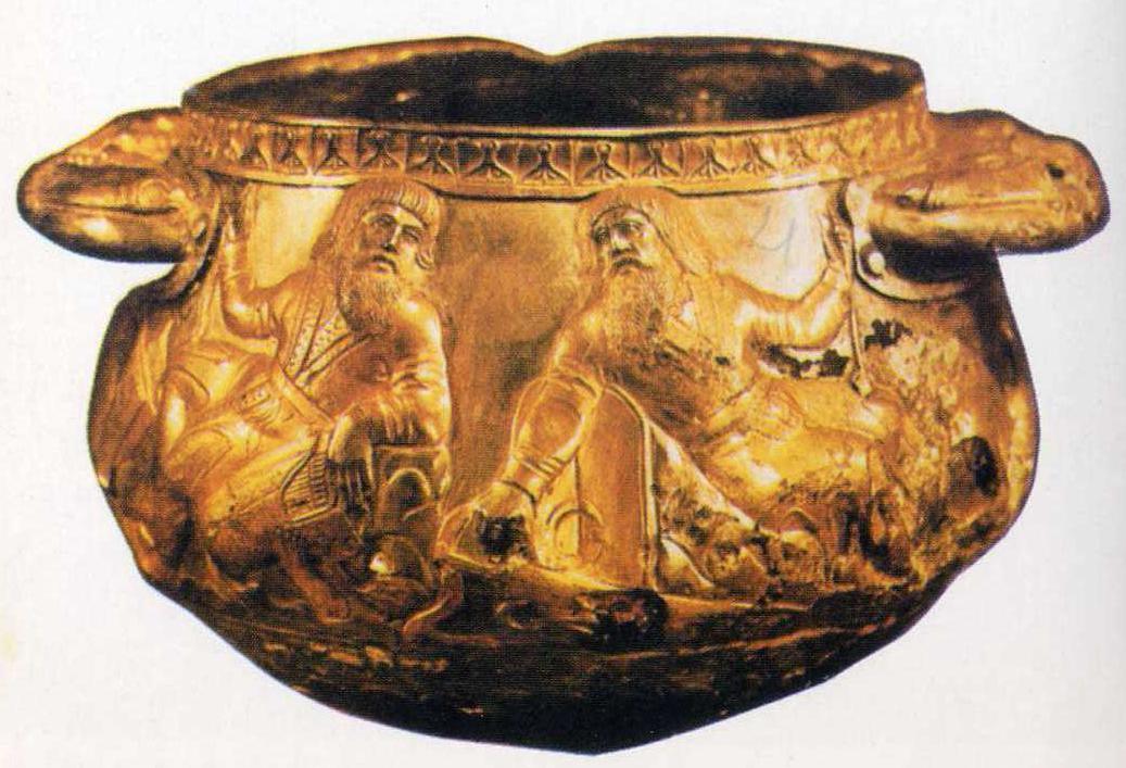 Серебряная ваза с изображением скифов, Гайманова Могила IV в. до н. э.