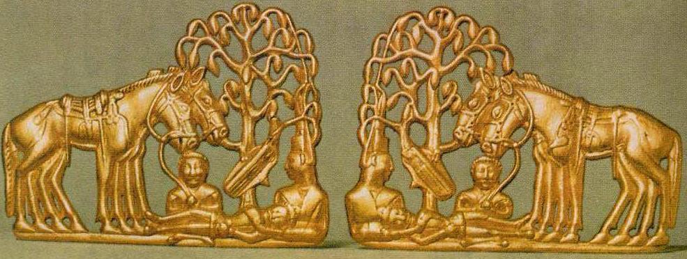 Золотая поясная бляха из Сибирской коллекции Петра I, рубеж н.э.