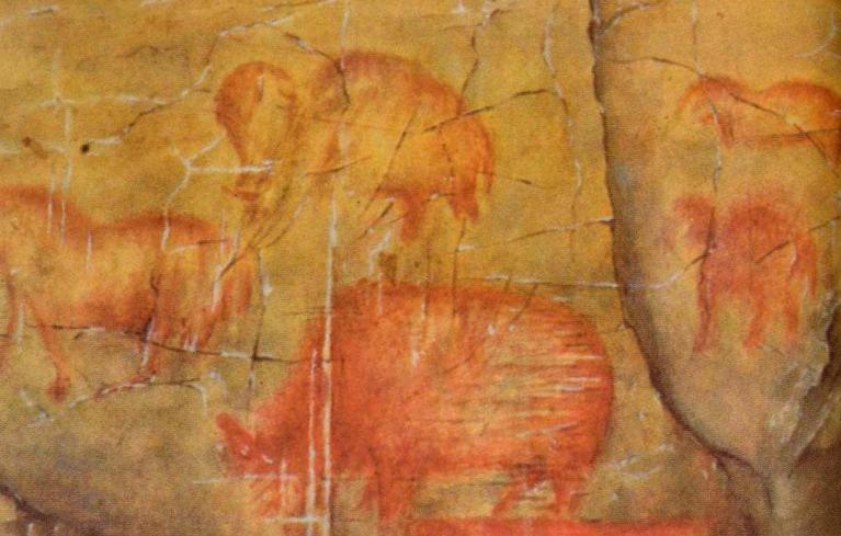 Мамонты, шерстистые носороги и дикие лошади из Каповой пещеры, Урал, Россия