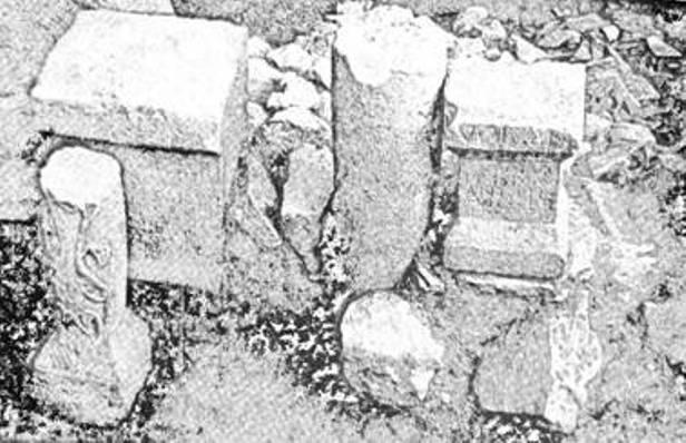 Рис. 27. Присвяти римським богам у культовому приміщенні римського опорного пункту на території сучасної Балаклави
