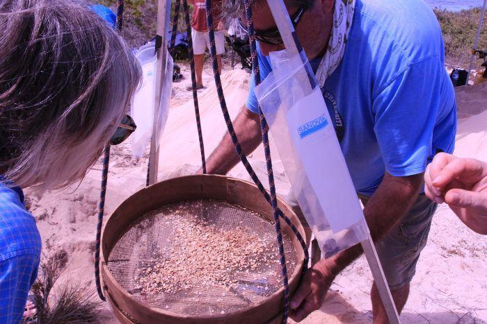 Чтобы найти кости и артефакты, которые могут пролить свет на трагедию, используют сита.