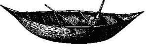 Яганская лодка из коры