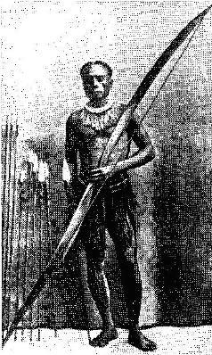 Андаманец с луком и стрелами