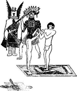 Инициация у индейцев хопи. Бичевание посвящаемого