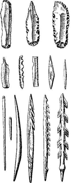 Мадленские орудия из Франции (по Булю)
